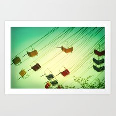 Fly around Art Print