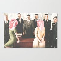 mad men Canvas Prints featuring Mad Men by frankmanleynelson