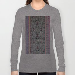 Song to Bring Blessings to a Marriage - Traditional Shipibo Art - Indigenous Ayahuasca Patterns Long Sleeve T-shirt