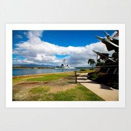Navy Ship 1 Art Print