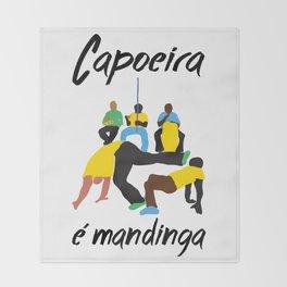 capoeira é mandinga Throw Blanket