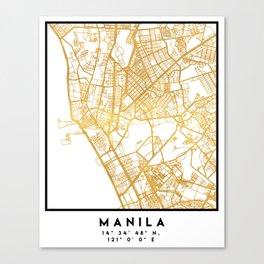 MANILA PHILIPPINES CITY STREET MAP ART Canvas Print