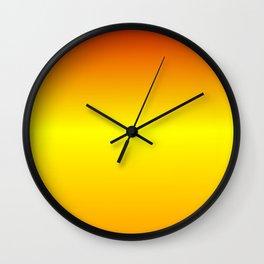 Horizontal Red, Yellow and Orange Gradient Wall Clock