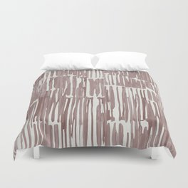 Simply Bamboo Brushstroke Red Earth on Lunar Gray Duvet Cover
