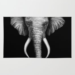 Elephant Head Trophy Rug