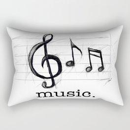 Music From The Heart Rectangular Pillow