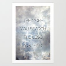 Search & Find Art Print