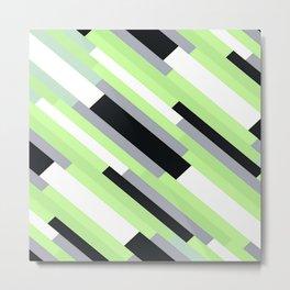 Agender Pride Diagonal Broken Stripes Pattern Metal Print