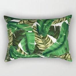Swaying banana leaf palm green Rectangular Pillow