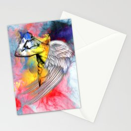 angel male nude Stationery Cards