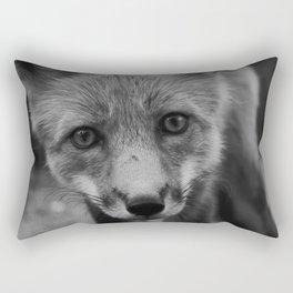 The Fox (Black and White) Rectangular Pillow