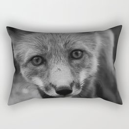 The Fox (Black and White) Rectangular Pillow