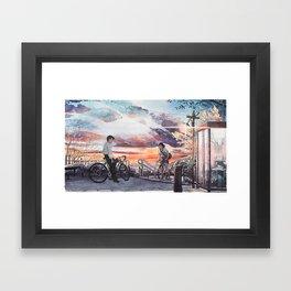 Bicycle Boy 10 Framed Art Print