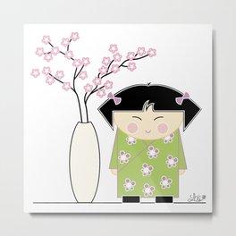 Little Asian Girl Metal Print