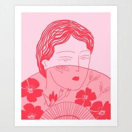 L'éventail Art Print