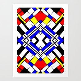 Mondrian-ish. Art Print