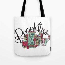 Brooklyn Typography Tote Bag