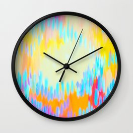 Happy Abstracts Wall Clock