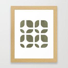 CAHOKIA MOD (TERRARIUM MOSS), pattern by Frank-Joseph Framed Art Print