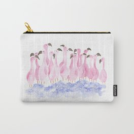 Flock of flamingos Carry-All Pouch