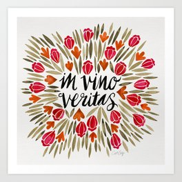In Wine, There is Truth – Red Art Print