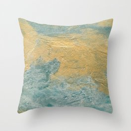 Copper Turquoise #03 Abstract Texture Throw Pillow