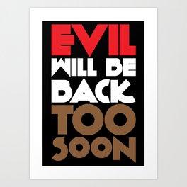 Evil Art Print
