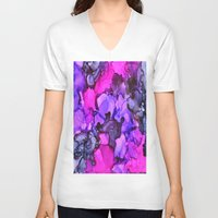 indigo V-neck T-shirts featuring Indigo by Claire Day