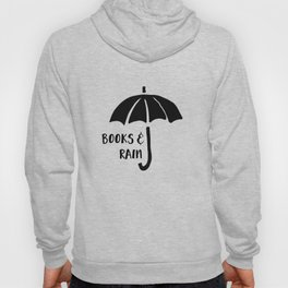 Books and Rain - Black and White Hoody