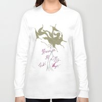boobs Long Sleeve T-shirts featuring Because Boobs by Meagan Harman
