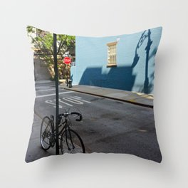 Shadows on a Greenwich Village street, NYC Throw Pillow