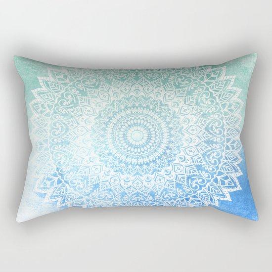 OCEAN PASSION LEAVES MANDALA Rectangular Pillow