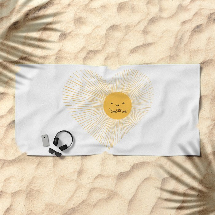 You are the Sunshine of my heart Beach Towel