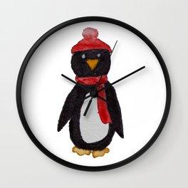 Warm Little Penguin Wall Clock