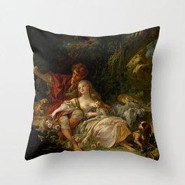 "François Boucher ""Shepherd and Shepherdess"" Throw Pillow"