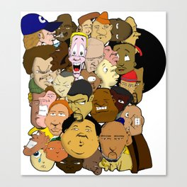 Faces Canvas Print
