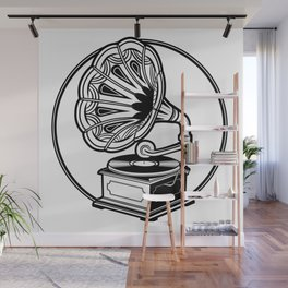 Old Record Machine Wall Mural