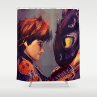 best friend Shower Curtains featuring You're My Best Friend by apfelgriebs