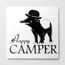 Happy Camper-Tapir Metal Print