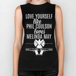 Love Yourself Like - Phil Coulson & Melinda May - Agents Of SHIELD Biker Tank
