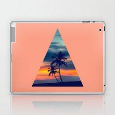 Palms and sunset triangle Laptop & iPad Skin