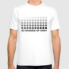 50 shades of grey Mens Fitted Tee SMALL White