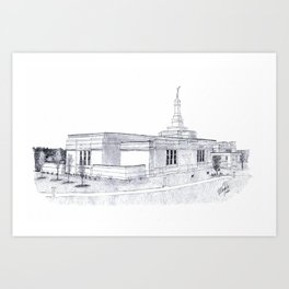 Palmyra LDS Temple Art Print