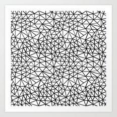 Shattered R Art Print