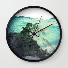 Underwater Mountain Wall Clock