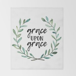 Grace Upon Grace Throw Blanket