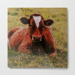 MosaicArt COW Metal Print