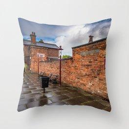 Hadlow Victorian Railway Station Throw Pillow
