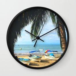 Sayulita Boats Wall Clock