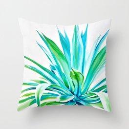 Agave on White Throw Pillow
